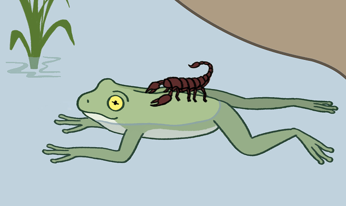 Scorpion_and_the_frog_kurzon